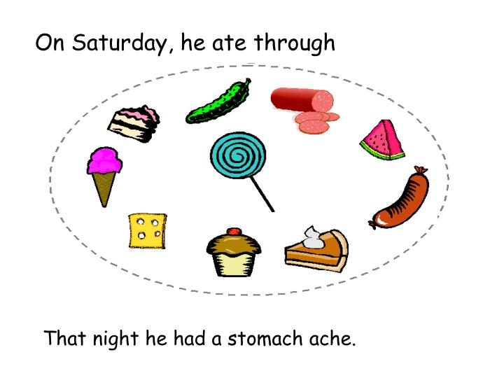 On Saturday, he ate through
