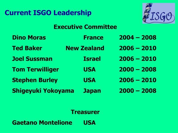 Current ISGO Leadership
