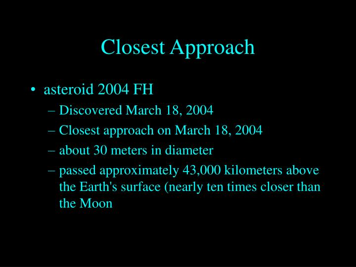 Closest Approach