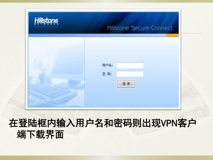 在登陆框内输入用户名和密码则出现