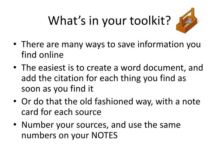 What's in your toolkit?