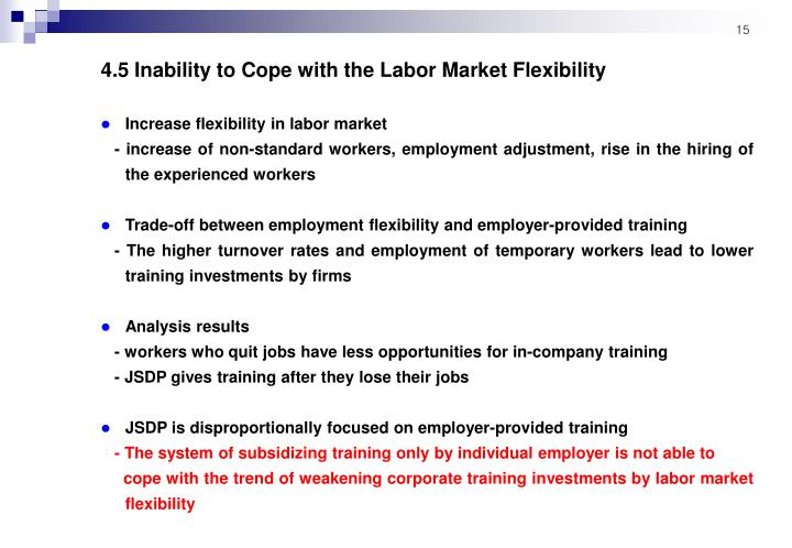 4.5 Inability to Cope with the Labor Market Flexibility