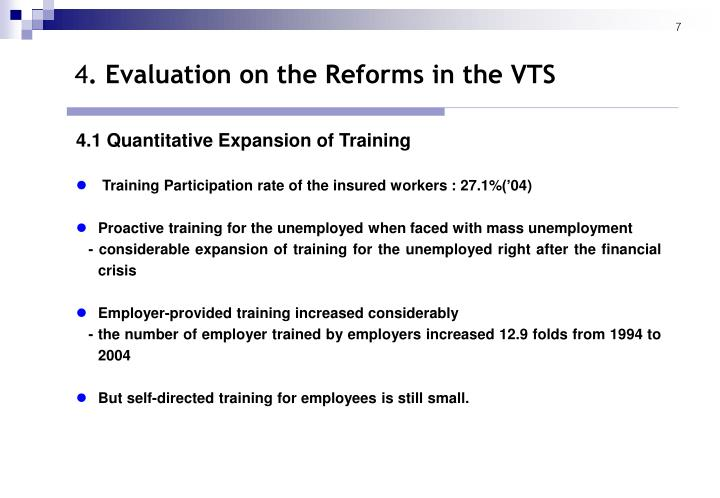 4.1 Quantitative Expansion of Training