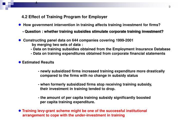 4.2 Effect of Training Program for Employer