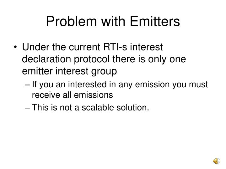 Problem with Emitters