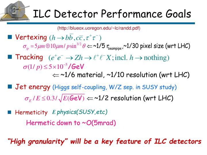 ILC Detector Performance Goals