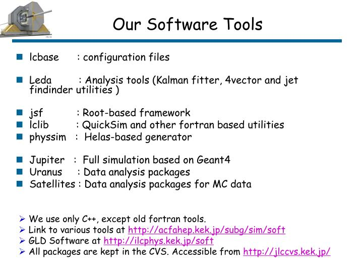 Our Software Tools