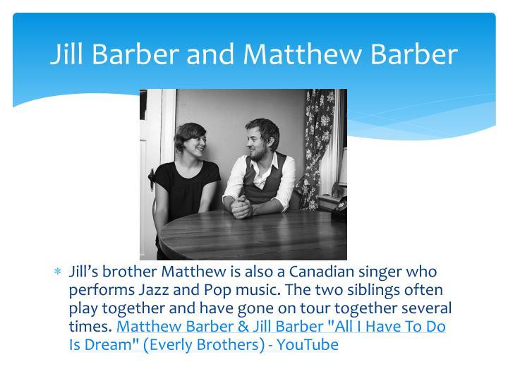 Jill Barber and Matthew Barber