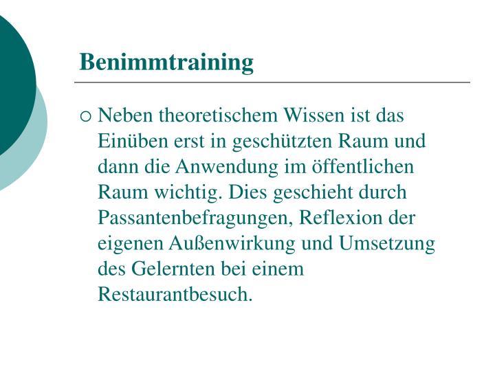 Benimmtraining