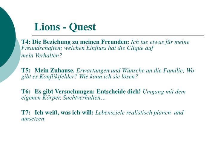 Lions - Quest