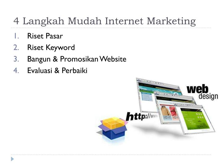 4 Langkah Mudah Internet Marketing