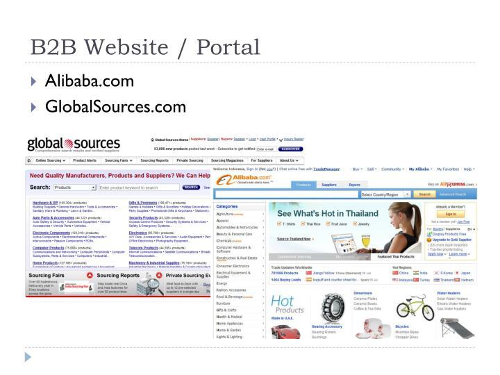 B2B Website / Portal