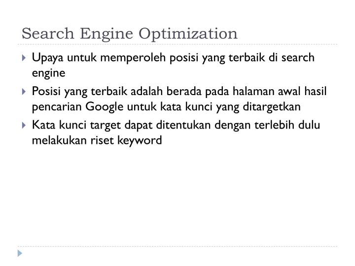 Search Engine Optimi