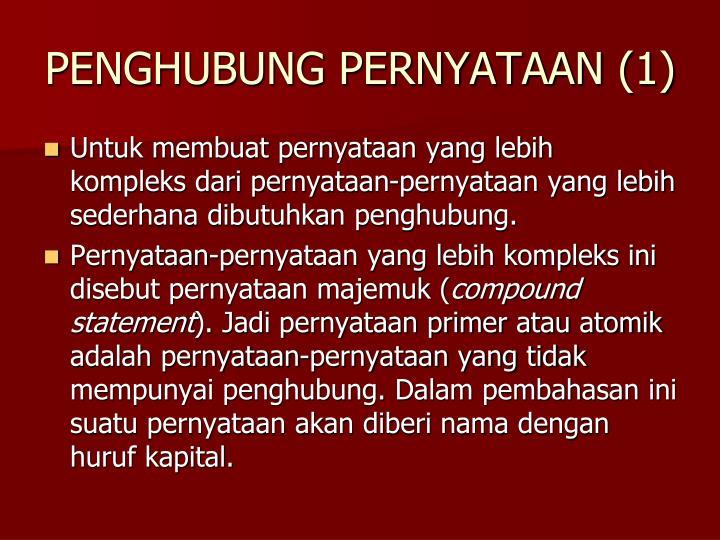 PENGHUBUNG PERNYATAAN (1)