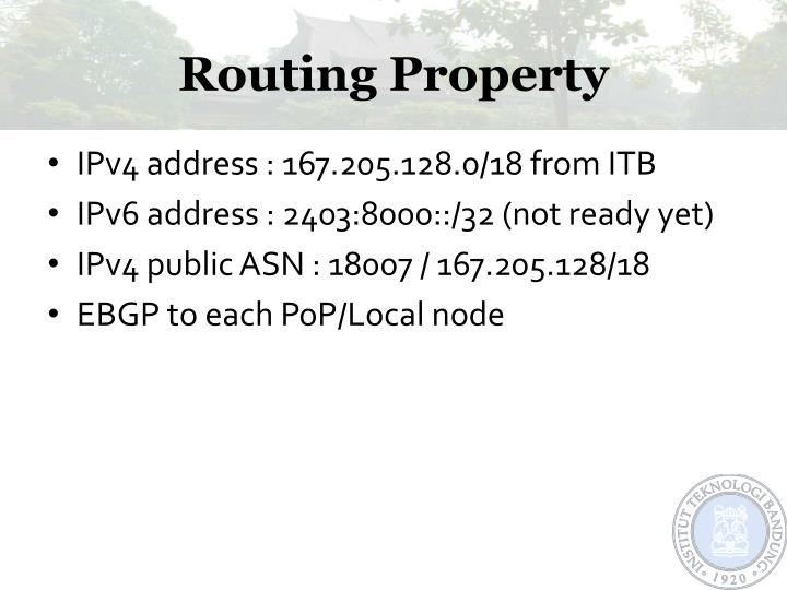 Routing Property