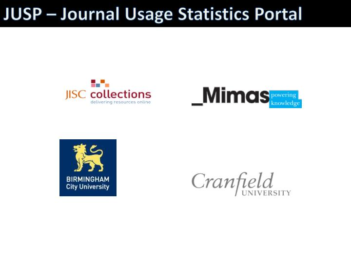JUSP – Journal Usage Statistics Portal