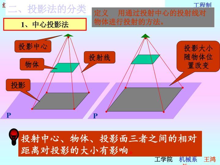 二、投影法的分类