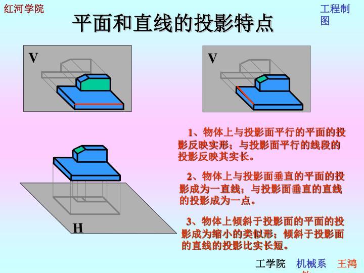 平面和直线的投影特点