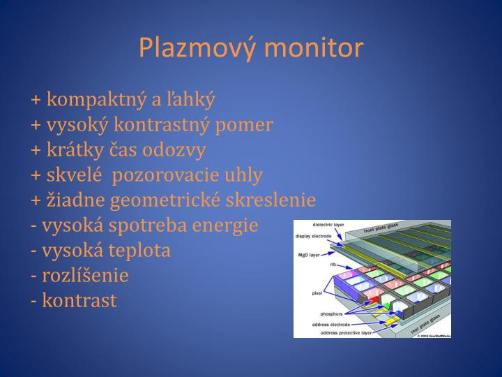 Plazmový monitor