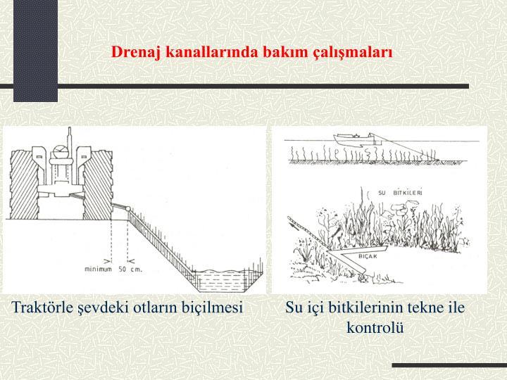 Drenaj kanallarında bakım çalışmaları