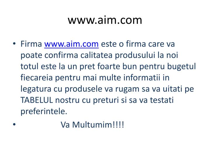 www.aim.com
