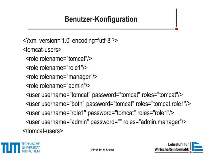Benutzer-Konfiguration