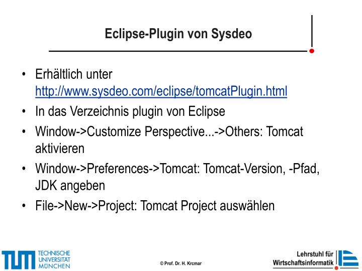 Eclipse-Plugin von Sysdeo