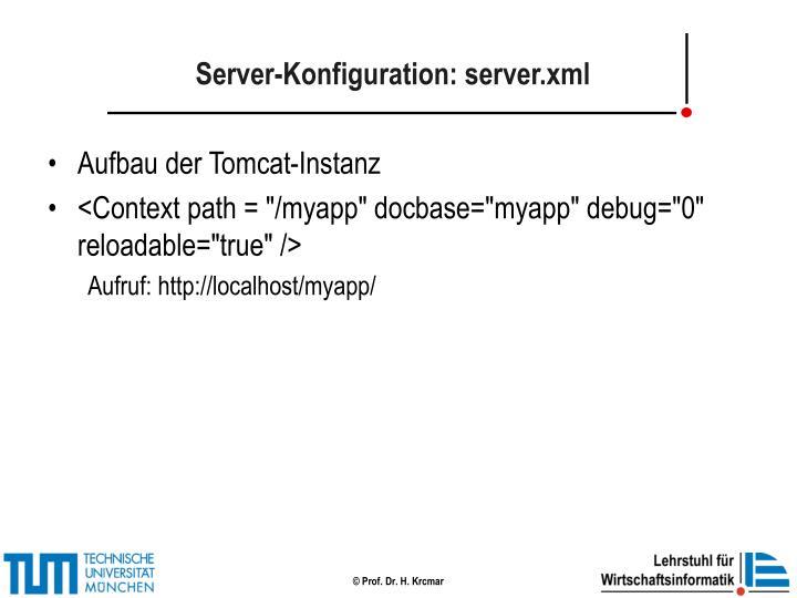 Server-Konfiguration: server.xml