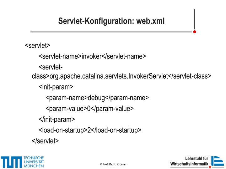 Servlet-Konfiguration: web.xml