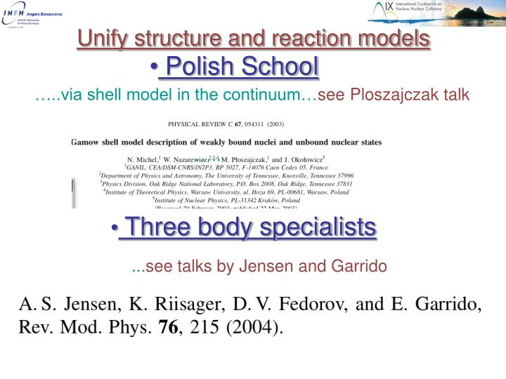 Unify structure and reaction models