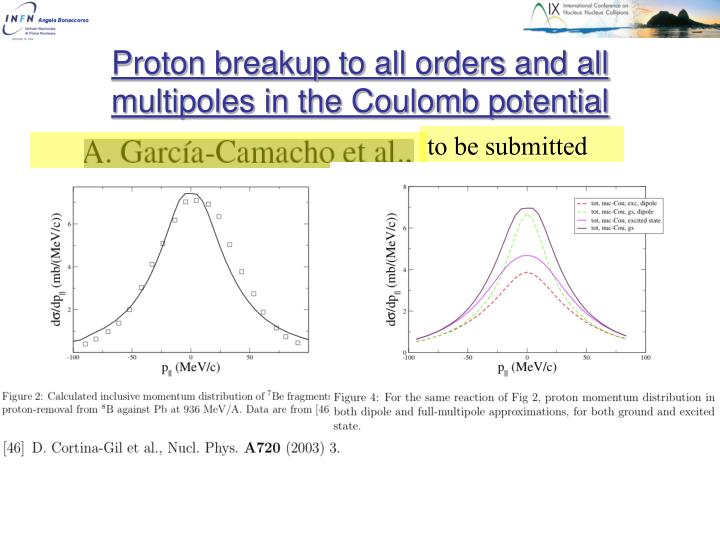Proton breakup to all orders and all multipoles in the Coulomb potential