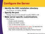configure the server