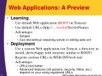 web applications a preview