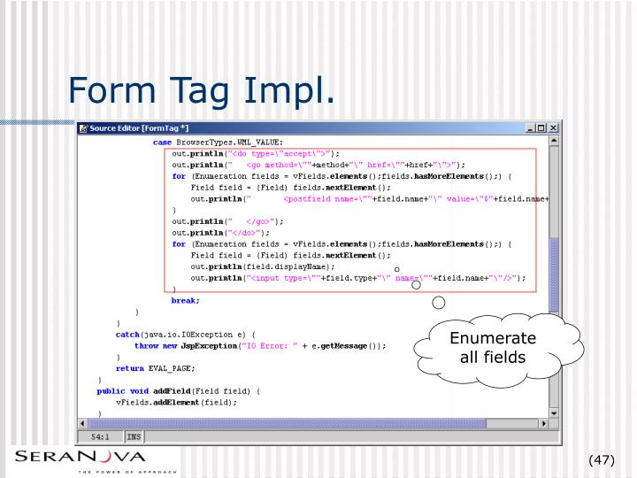 Form Tag Impl.