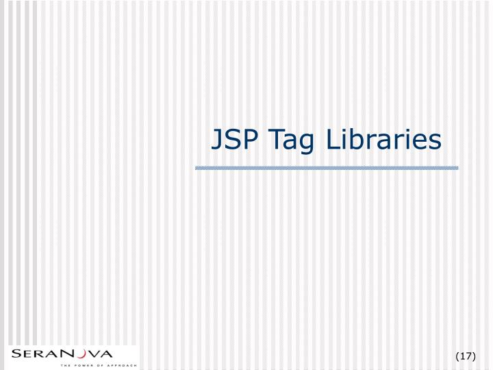 JSP Tag Libraries