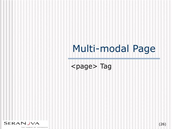 Multi-modal Page