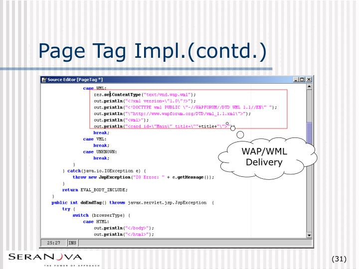 Page Tag Impl.(contd.)