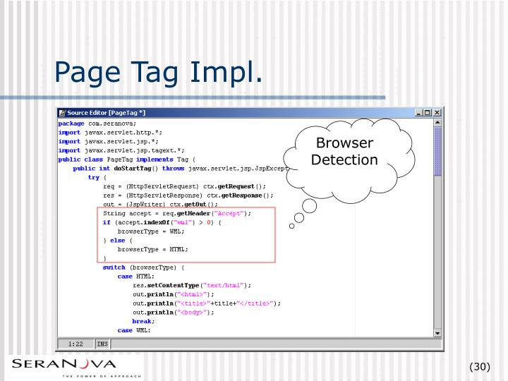Page Tag Impl.