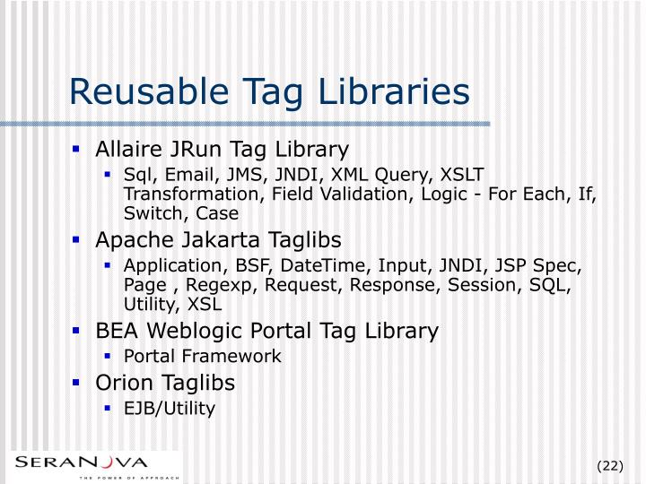 Reusable Tag Libraries