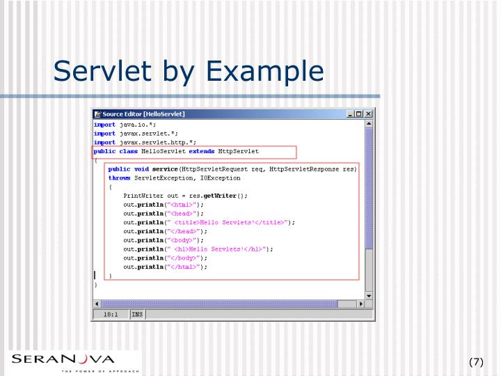 Servlet by Example