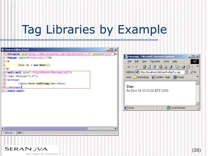 Tag Libraries by Example