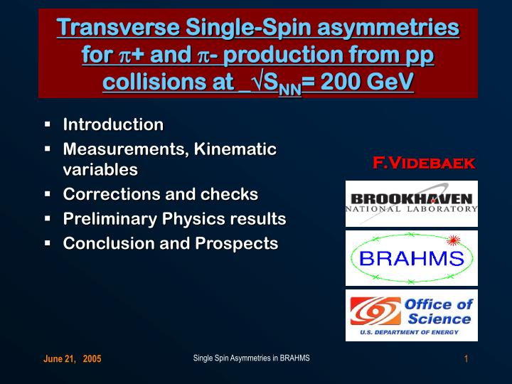 Transverse single spin asymmetries for p and p production from pp collisions at s nn 200 gev