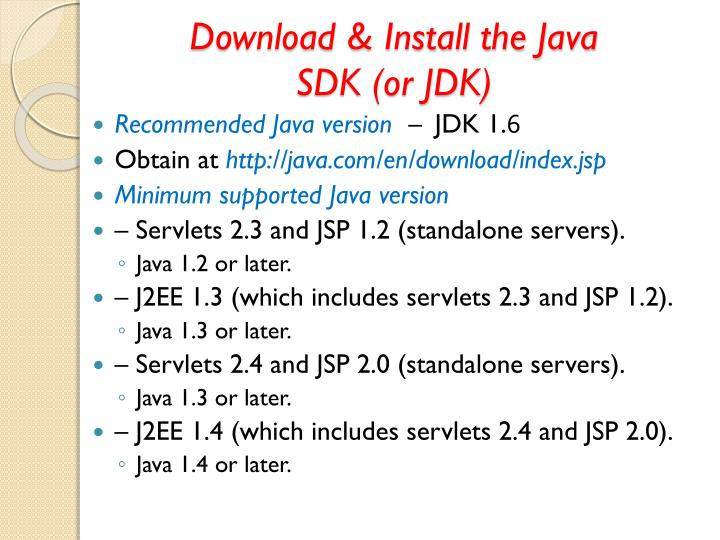 Download & Install the Java