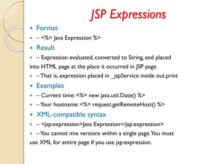 JSP Expressions