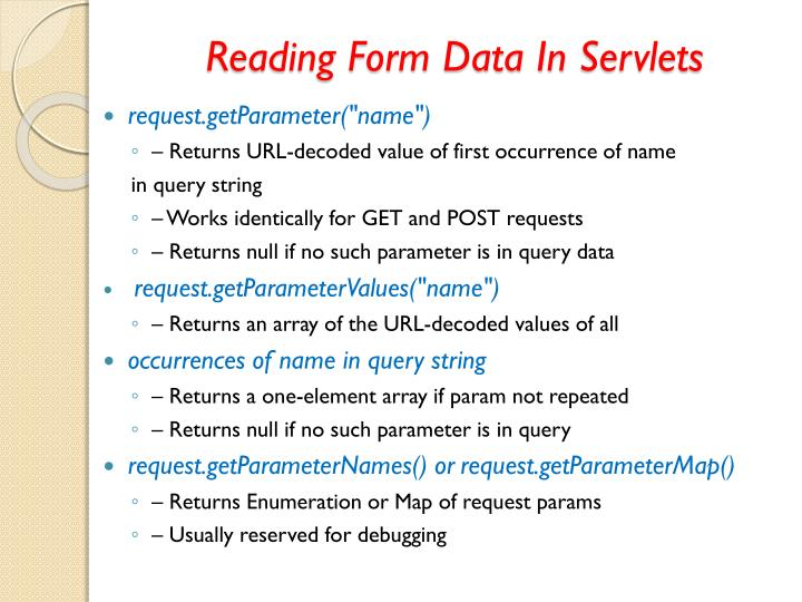 Reading Form Data In