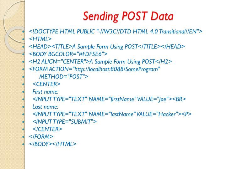 Sending POST Data