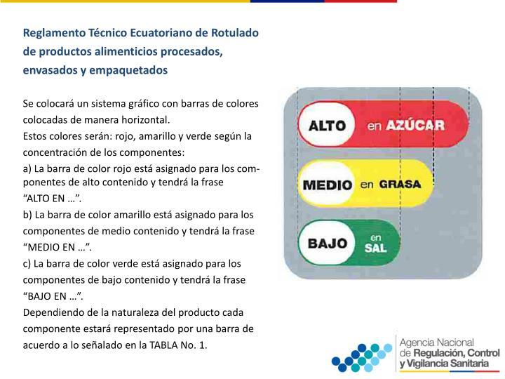 ReglamentoTécnico EcuatorianodeRotulado