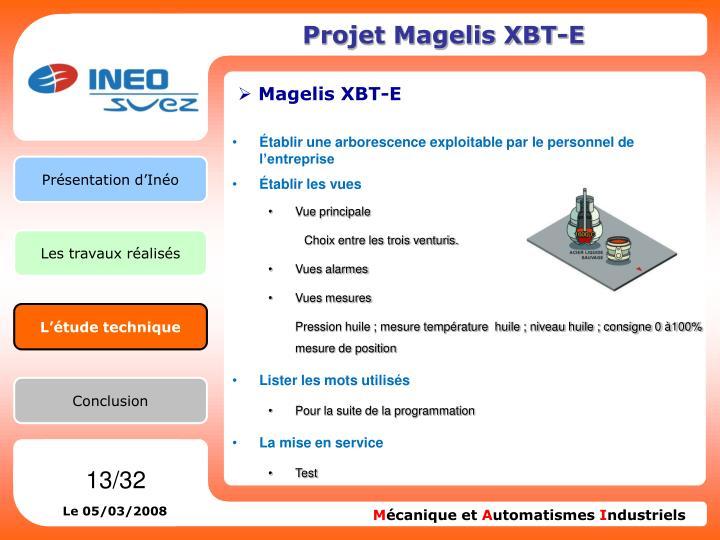 Projet Magelis XBT-E