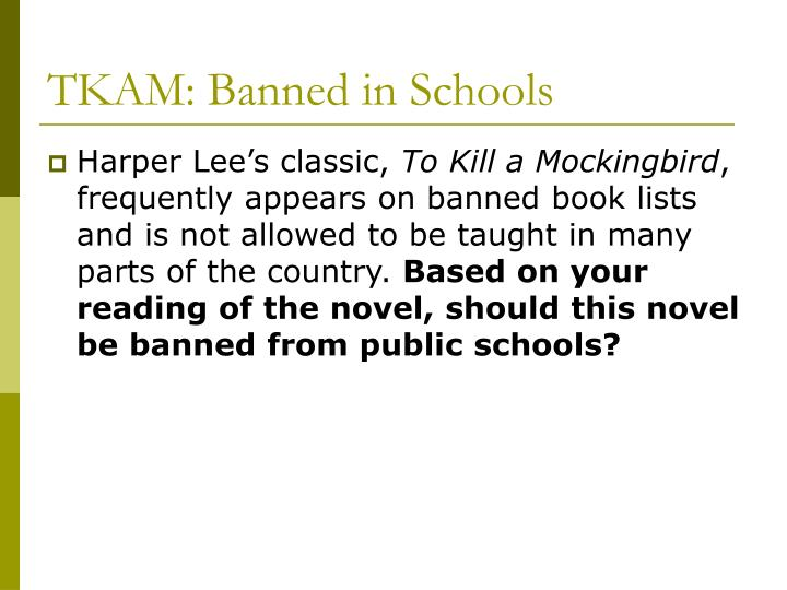 Tkam banned in schools