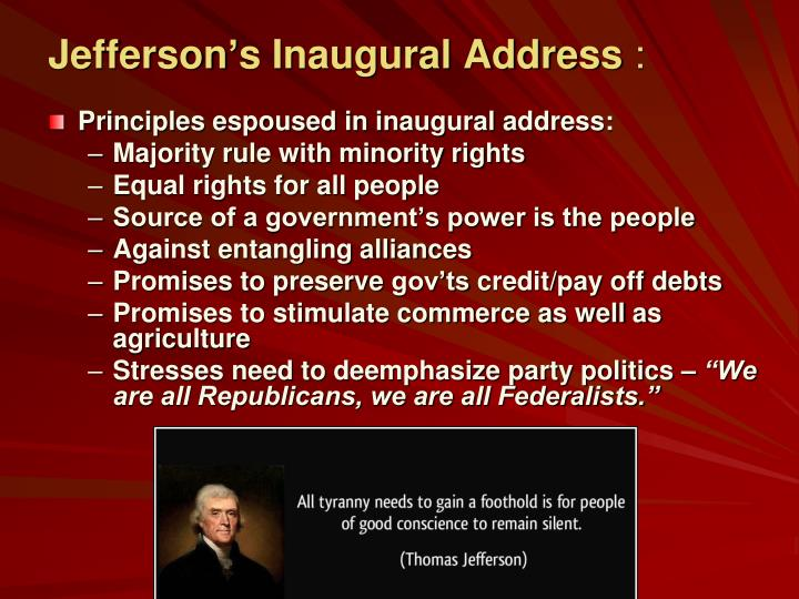 Jefferson's Inaugural Address